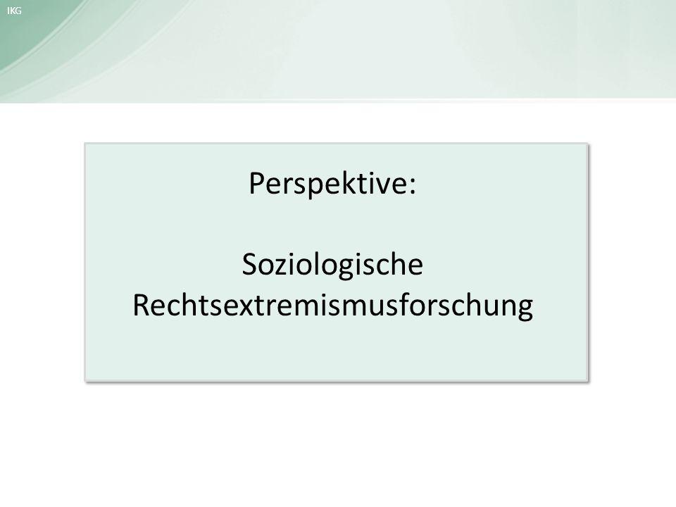 Perspektive: Soziologische Rechtsextremismusforschung