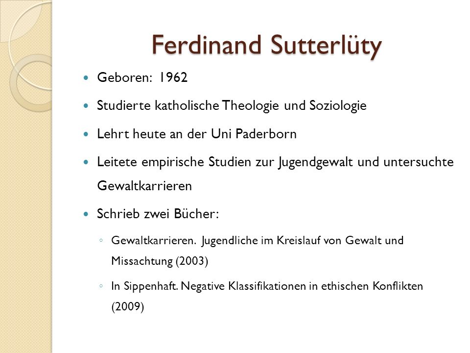 Ferdinand Sutterlüty Geboren: 1962