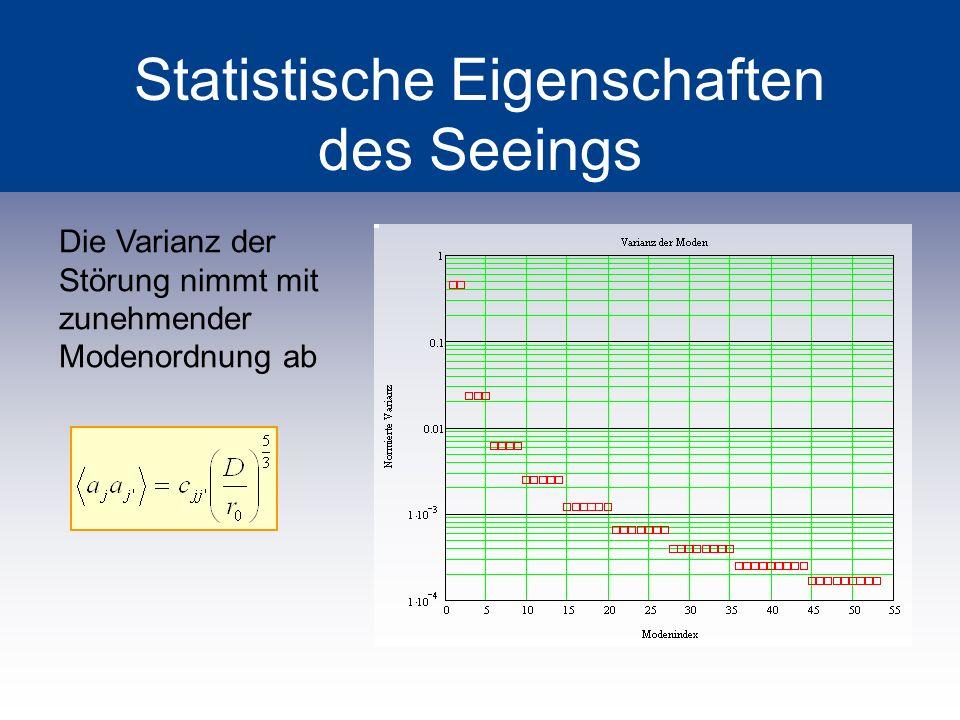 Statistische Eigenschaften des Seeings