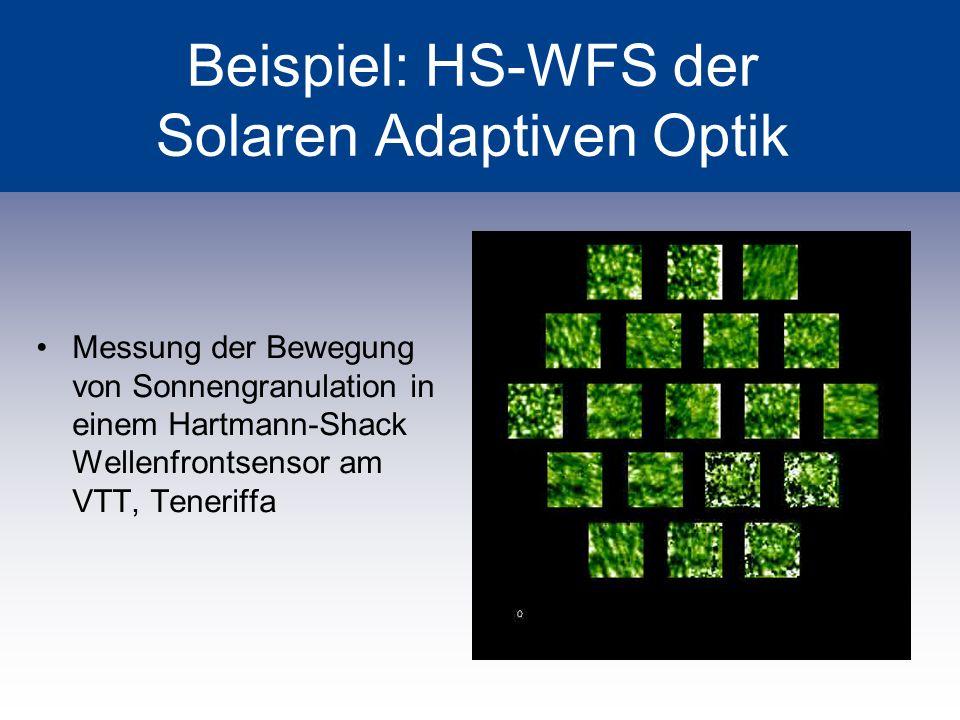 Beispiel: HS-WFS der Solaren Adaptiven Optik