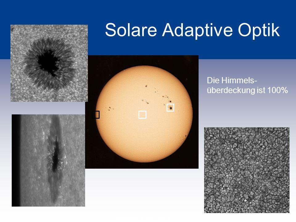 Solare Adaptive Optik Die Himmels-überdeckung ist 100%