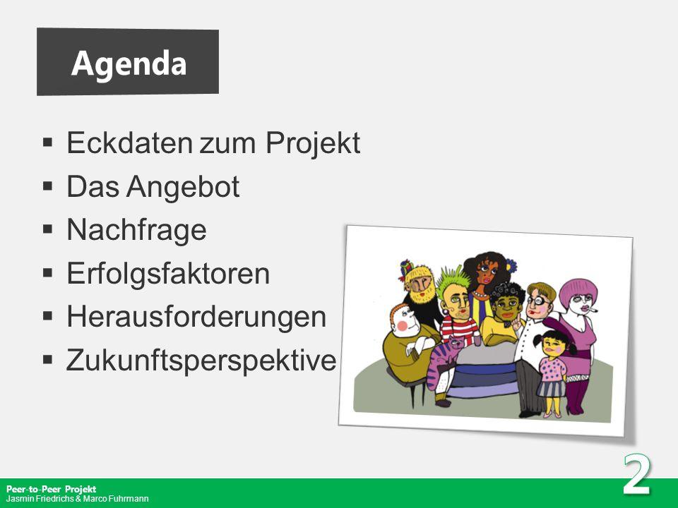 Agenda Eckdaten zum Projekt Das Angebot Nachfrage Erfolgsfaktoren