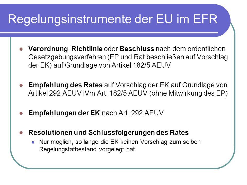 Regelungsinstrumente der EU im EFR