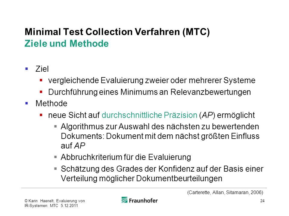 Minimal Test Collection Verfahren (MTC) Ziele und Methode