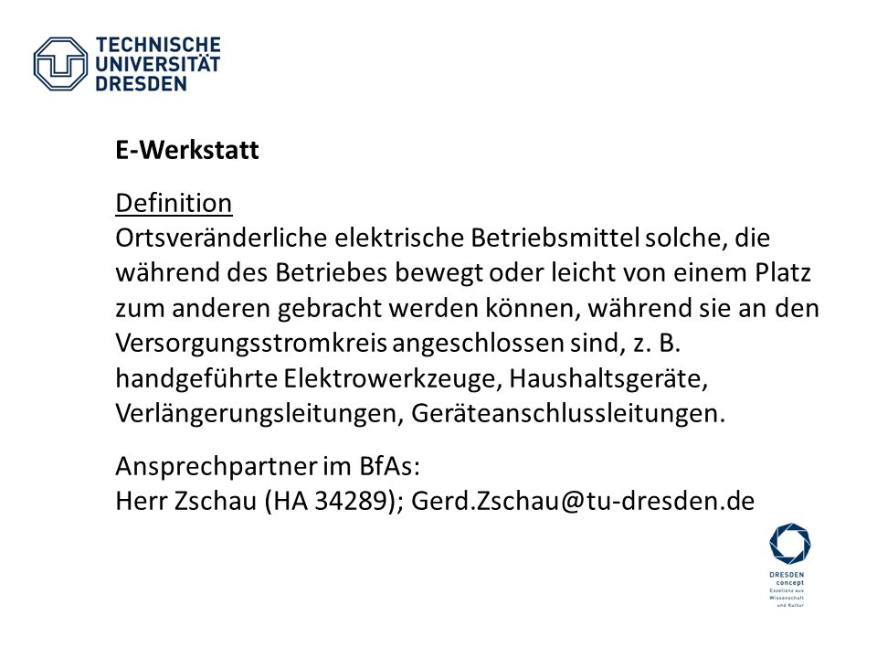 E-Werkstatt Definition.