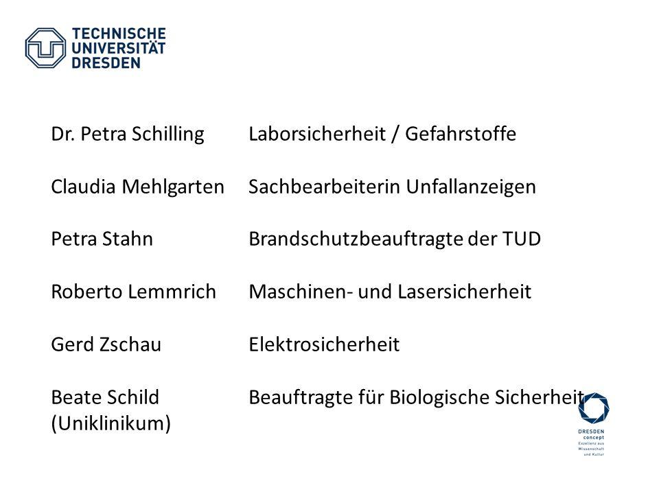 Dr. Petra Schilling Laborsicherheit / Gefahrstoffe