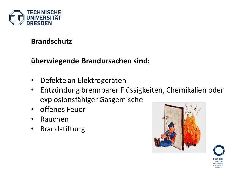 Brandschutz überwiegende Brandursachen sind: Defekte an Elektrogeräten.