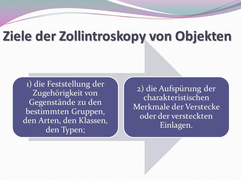 Ziele der Zollintroskopy von Objekten