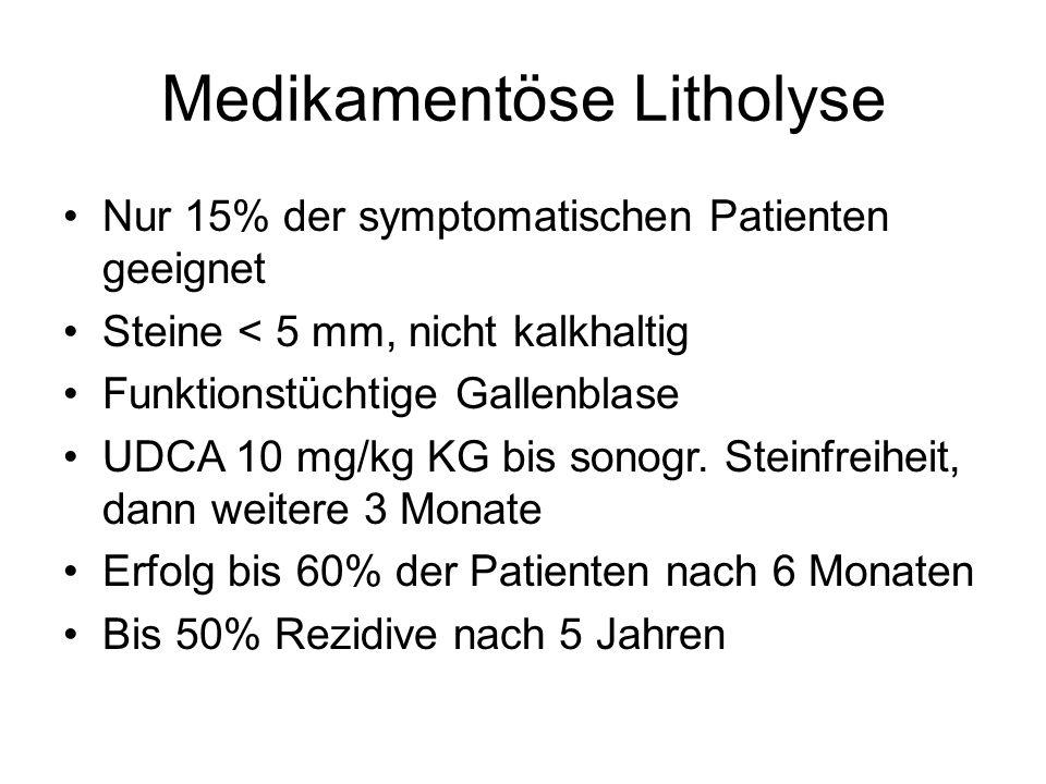 Medikamentöse Litholyse