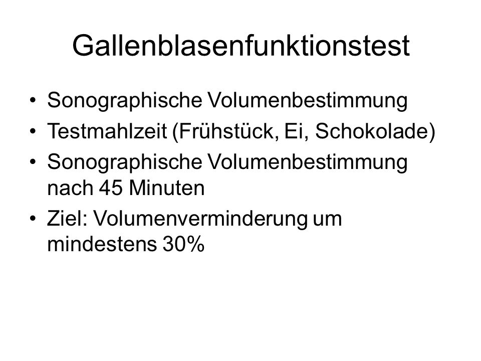 Gallenblasenfunktionstest