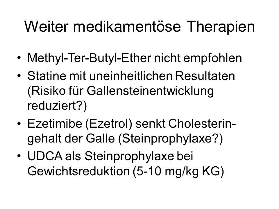 Weiter medikamentöse Therapien