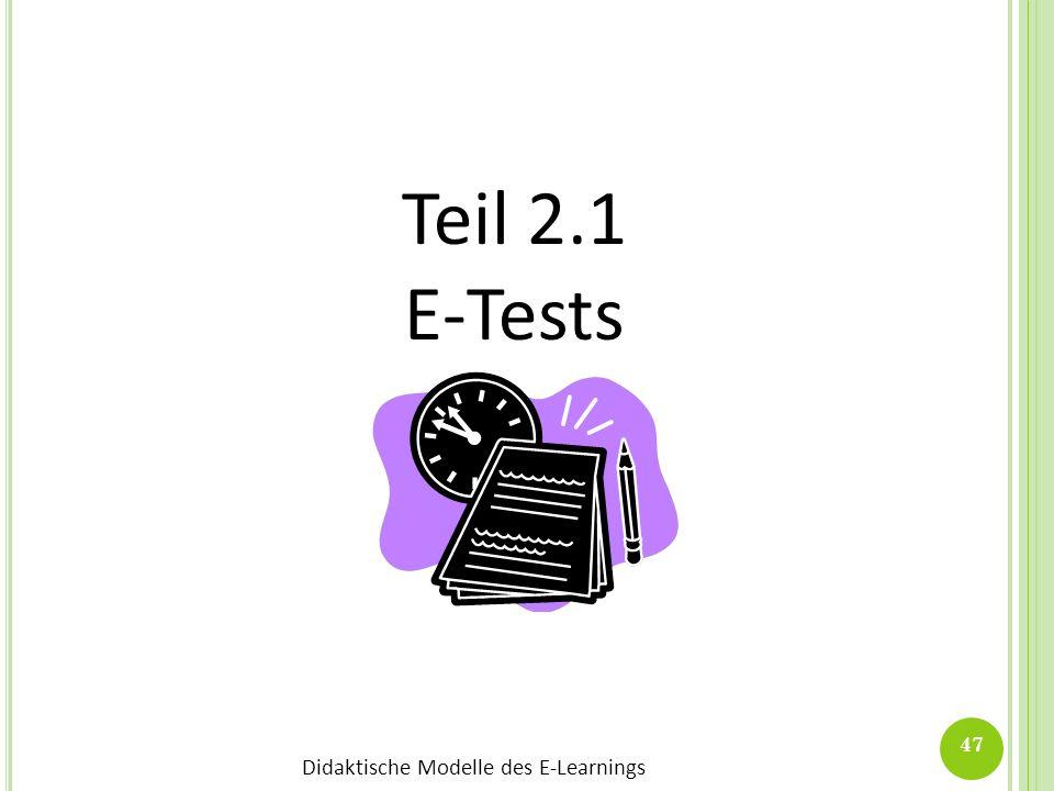 Teil 2.1 E-Tests