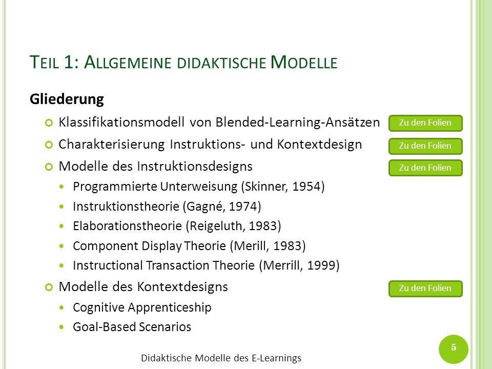Teil 1: Allgemeine didaktische Modelle