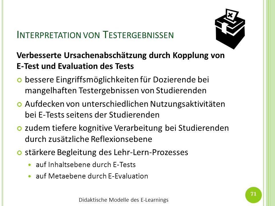 Interpretation von Testergebnissen