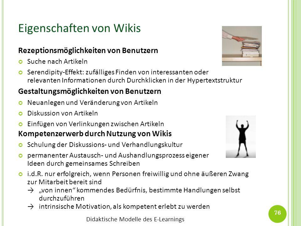 Eigenschaften von Wikis