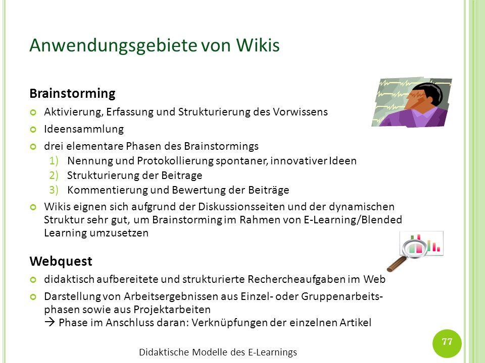 Anwendungsgebiete von Wikis