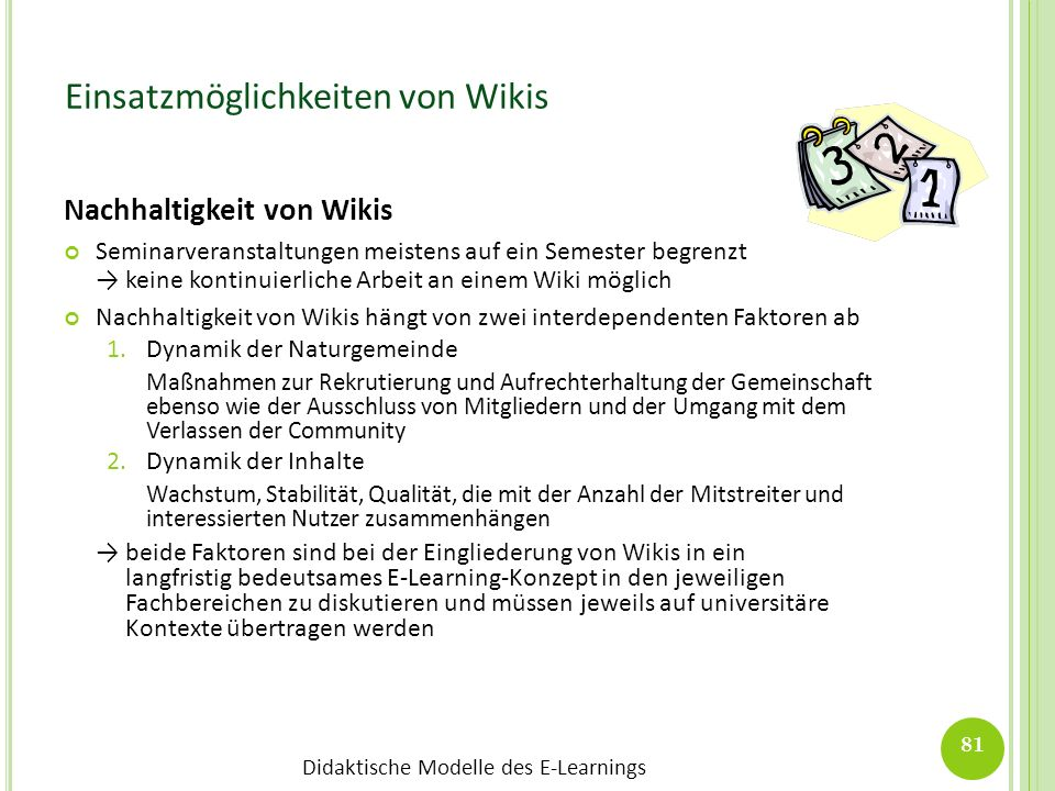 Einsatzmöglichkeiten von Wikis