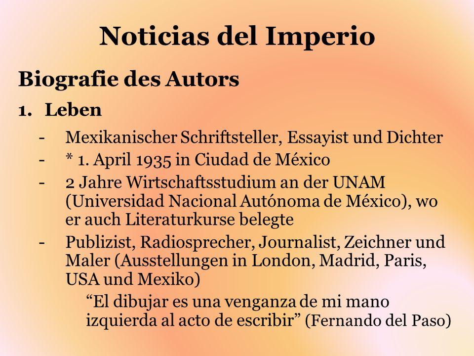 Noticias del Imperio Biografie des Autors Leben