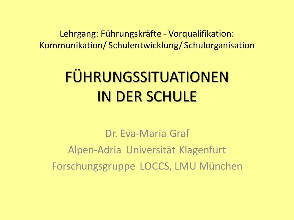 Alpen-Adria Universität Klagenfurt Forschungsgruppe LOCCS, LMU München