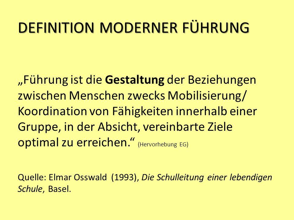 DEFINITION MODERNER FÜHRUNG