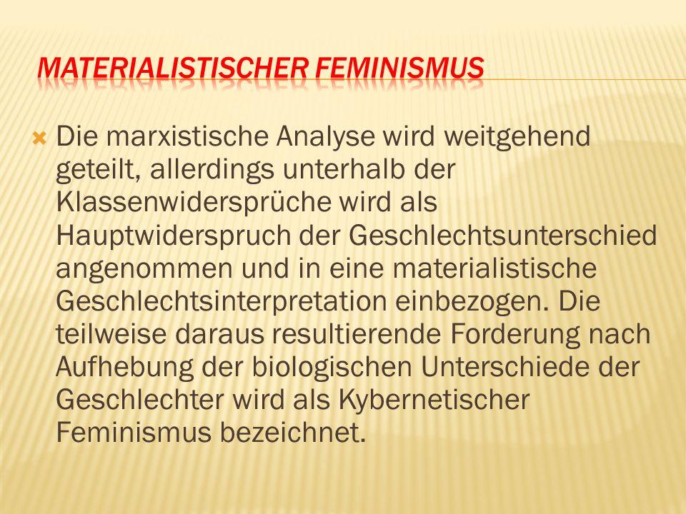 MATERIALISTISCHER FEMINISMUS
