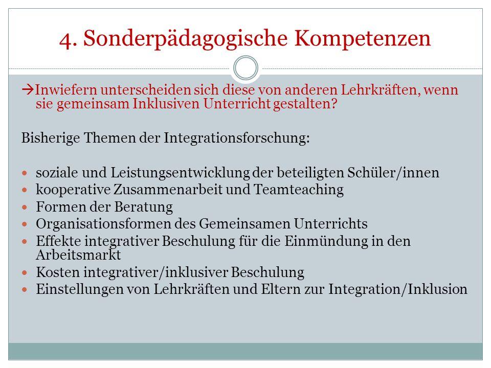4. Sonderpädagogische Kompetenzen