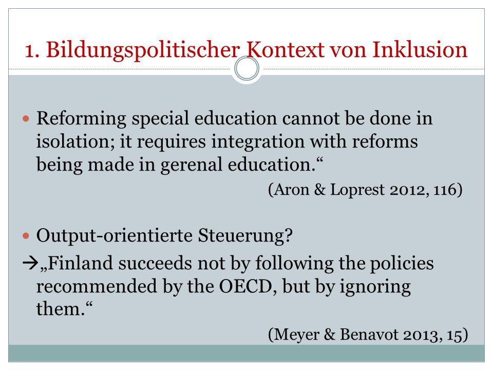 1. Bildungspolitischer Kontext von Inklusion