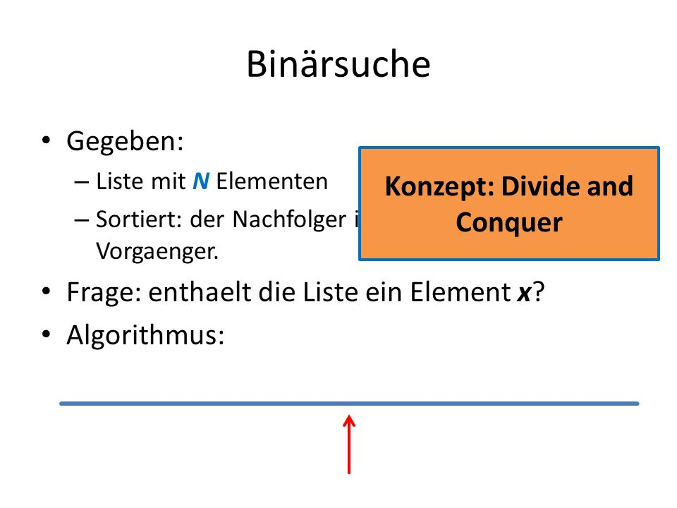 Konzept: Divide and Conquer
