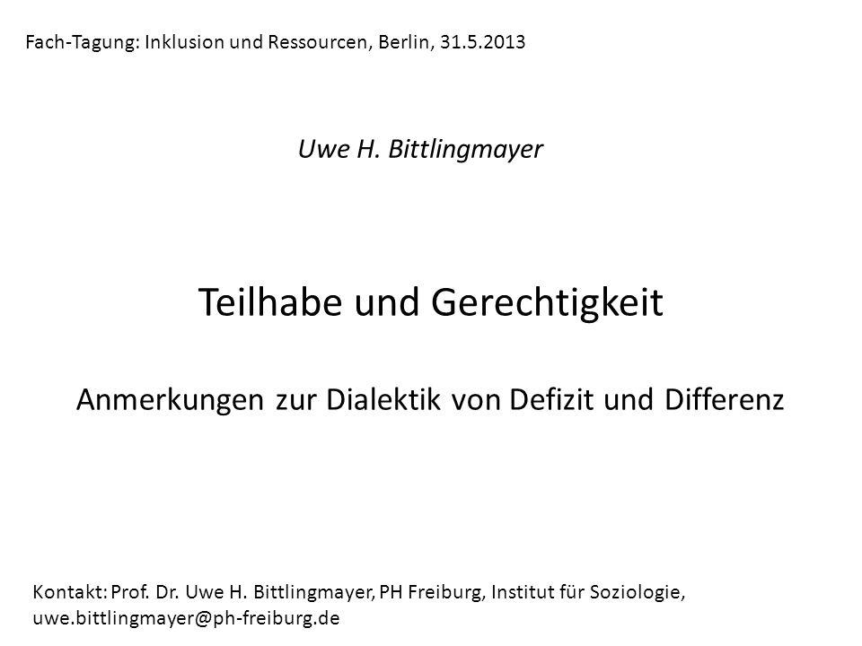 Fach-Tagung: Inklusion und Ressourcen, Berlin, 31.5.2013