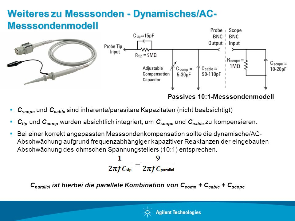 Weiteres zu Messsonden - Dynamisches/AC- Messsondenmodell
