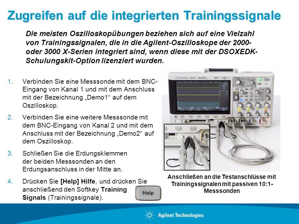 Zugreifen auf die integrierten Trainingssignale