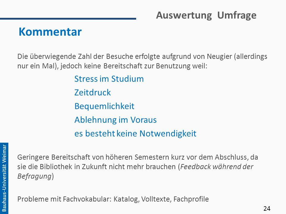 Kommentar Auswertung Umfrage Stress im Studium Zeitdruck
