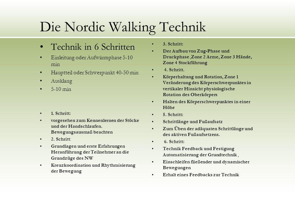 Die Nordic Walking Technik