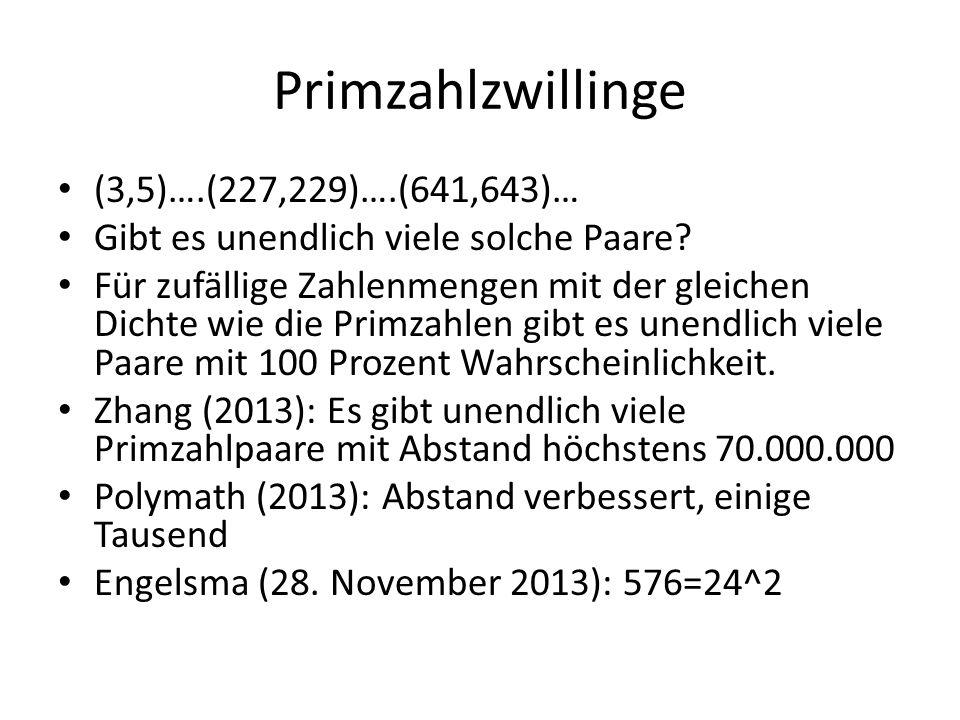 Primzahlzwillinge (3,5)….(227,229)….(641,643)…