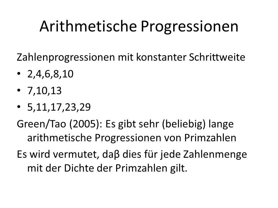 Arithmetische Progressionen