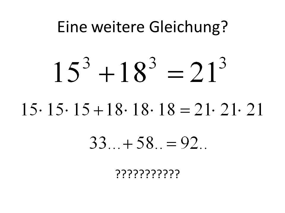 Eine weitere Gleichung