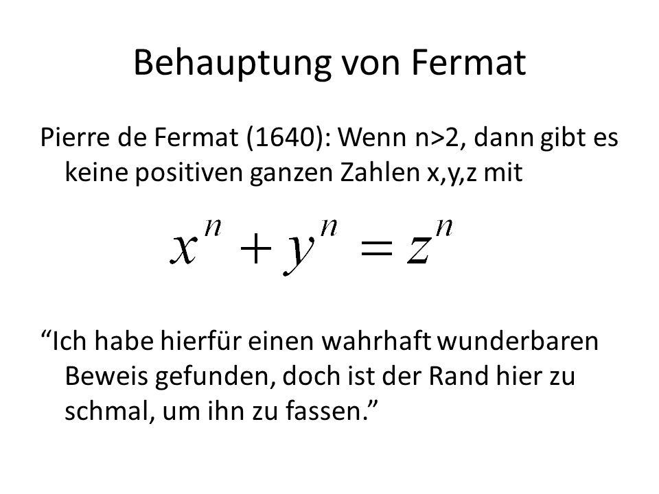 Behauptung von Fermat