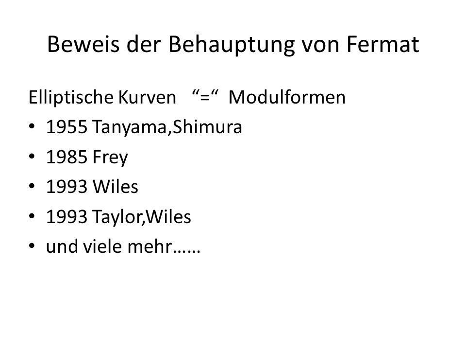 Beweis der Behauptung von Fermat