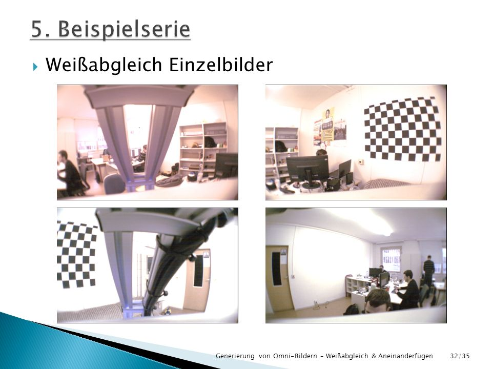 5. Beispielserie Weißabgleich Einzelbilder
