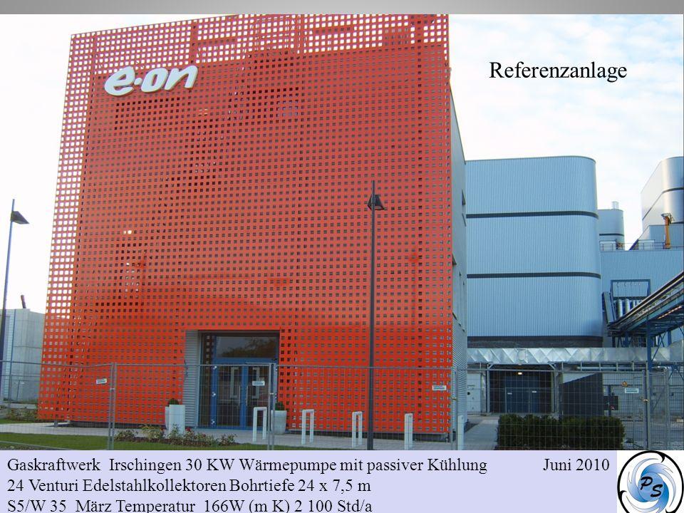 Referenzanlage Gaskraftwerk Irschingen 30 KW Wärmepumpe mit passiver Kühlung Juni 2010.