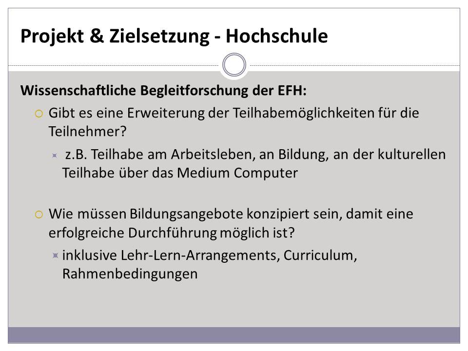 Projekt & Zielsetzung - Hochschule