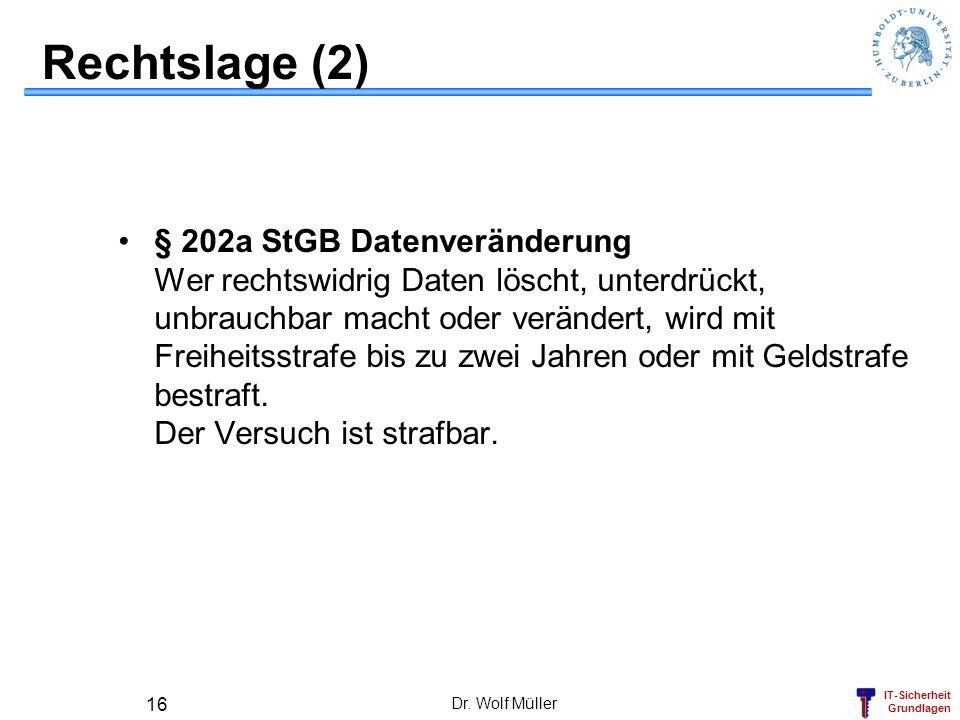 Rechtslage (2)