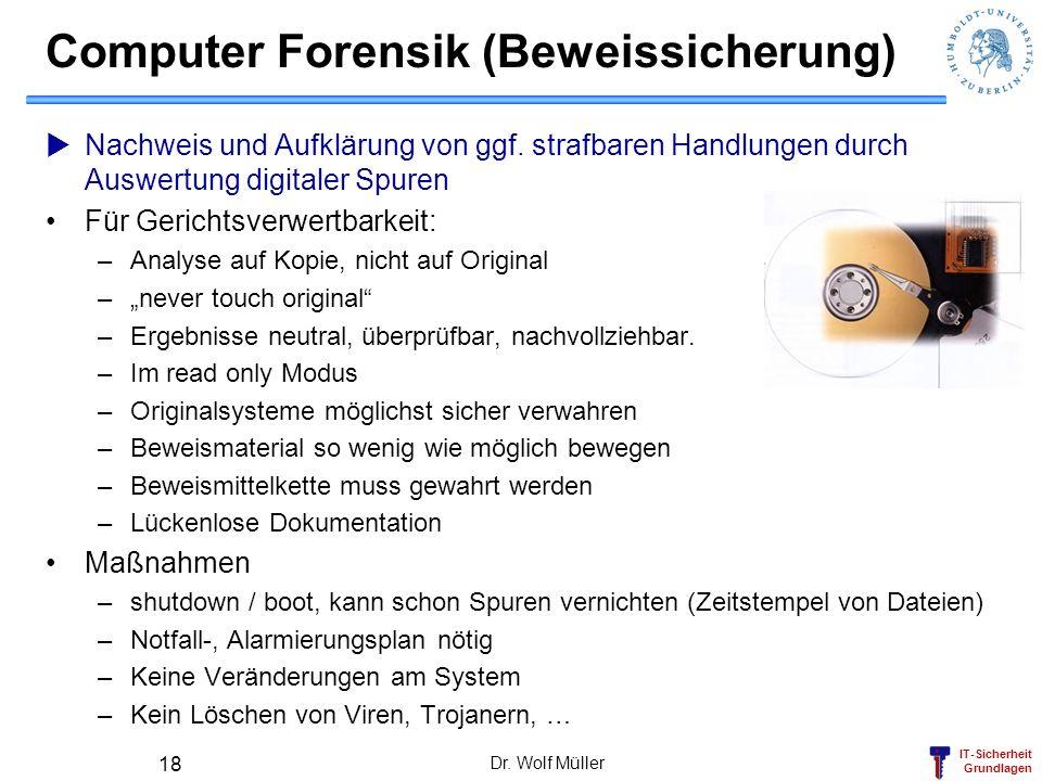 Computer Forensik (Beweissicherung)