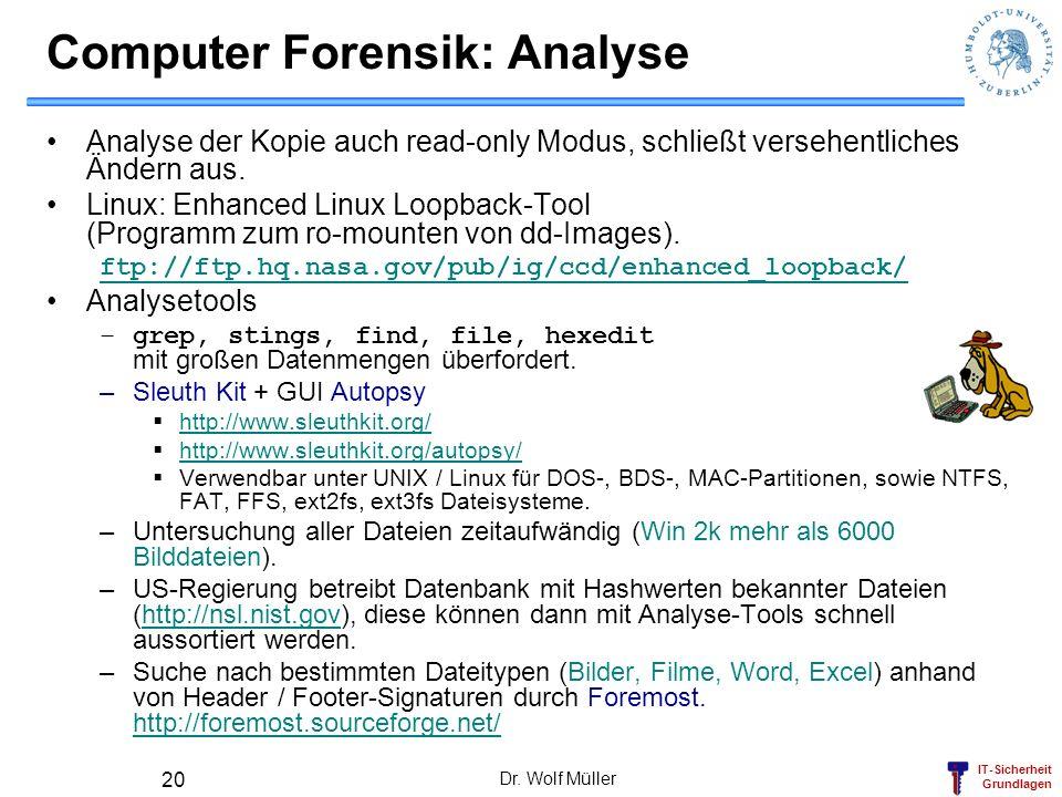 Computer Forensik: Analyse