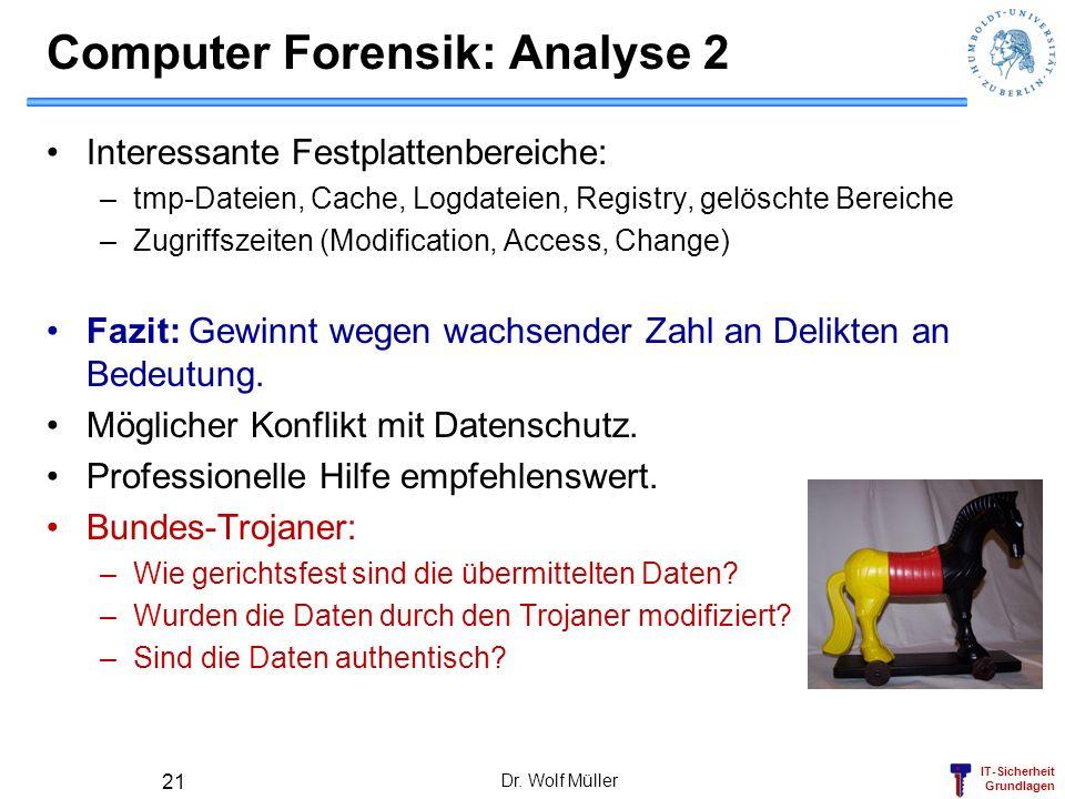 Computer Forensik: Analyse 2