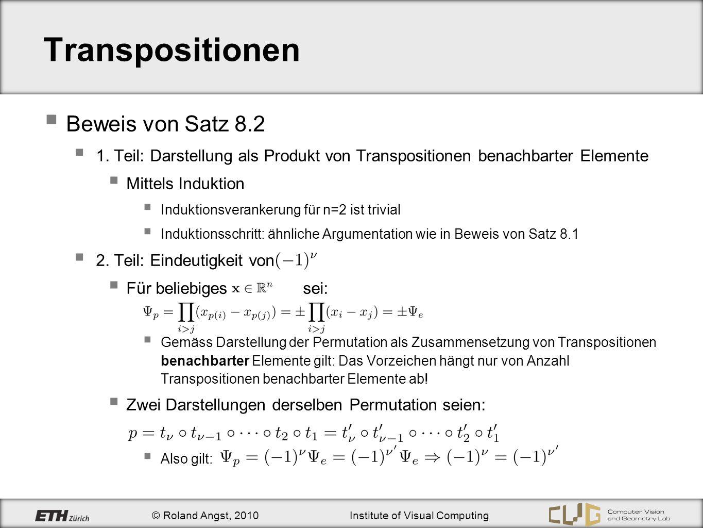 Transpositionen Beweis von Satz 8.2