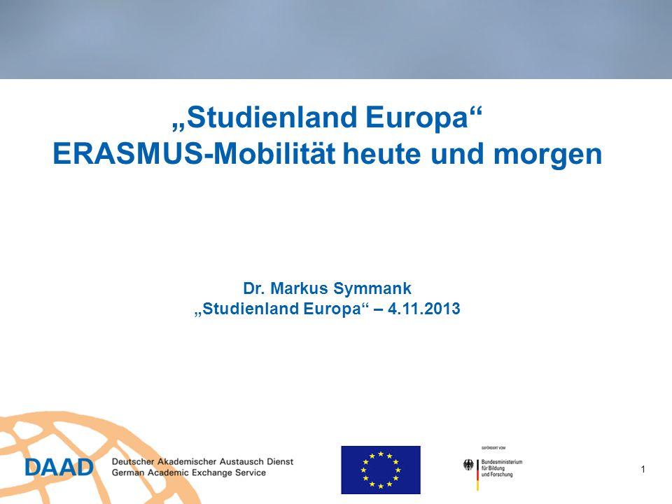 """""""Studienland Europa ERASMUS-Mobilität heute und morgen Dr"""