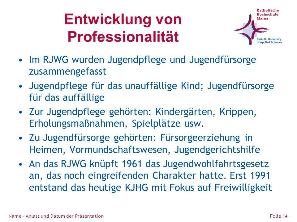 Entwicklung von Professionalität