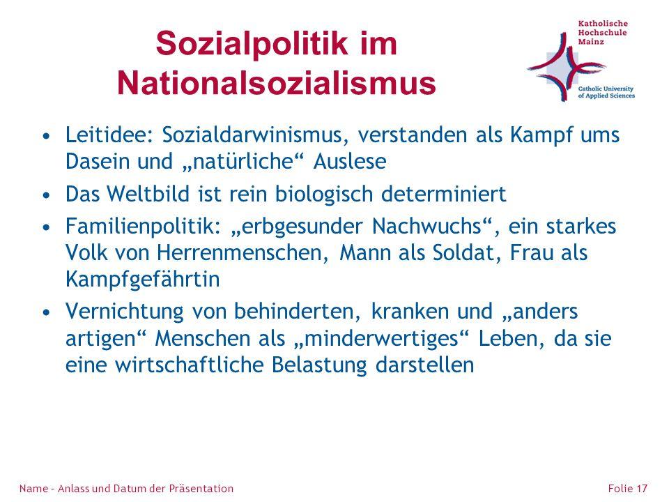 Sozialpolitik im Nationalsozialismus