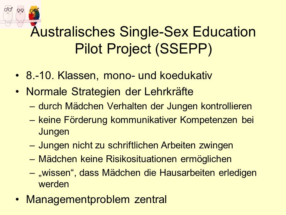 Australisches Single-Sex Education Pilot Project (SSEPP)